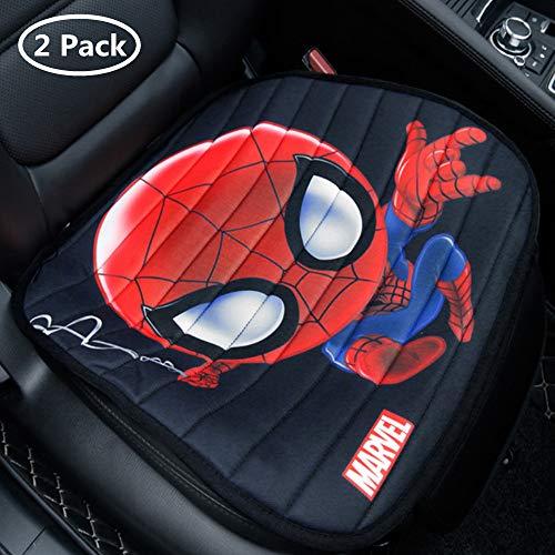 ABYED 2 Pezzi Spider Man Anteriori Coprisedile Auto per seggiolino Auto Comune per Quattro Stagioni,Francia