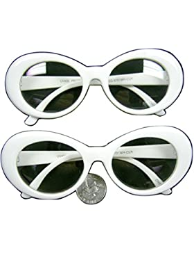 White Jackie O's Sunglasses Clear Lens