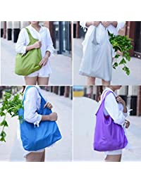 ELECTROPRIME Eco Nylon Foldable Travel Shopping Shoulder Bag Grocery Bags Tote Reusable
