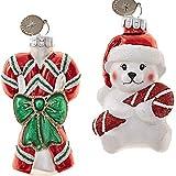 Radko Weihnachten Weihnachtsbaumschmuck Christbaum Kugeln Anhänger Handcrafted Glas Polar Bär Candy Canes