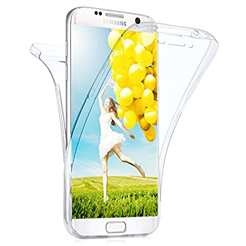 Samsung Galaxy S6 Edge Plus Hülle Silikon Transparent 360 Grad [OneFlow Double Side Cover] Dünne Schutzhülle Slim Handyhülle für Samsung Galaxy S6 Edge+ Plus Case Klar Silikonhülle