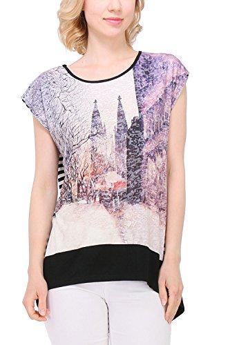 Zelia -  T-shirt - Collo a U  - Donna Bianco