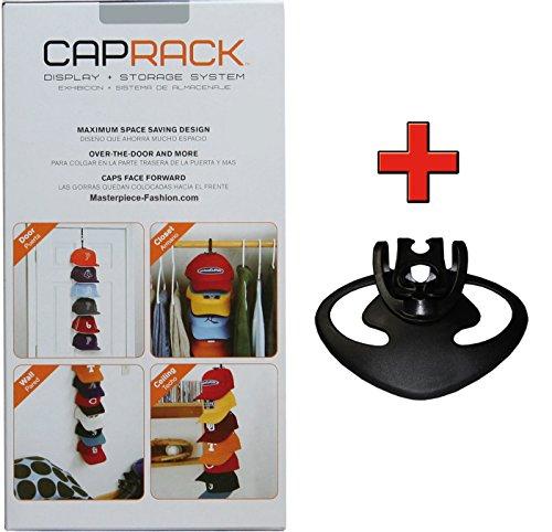 Cap-Rack Basic+ Kappenhalter in Schwarz mit 6 Clips plus 1 Zusatzclip für bis zu 21 Baseball Caps und Mützen (Cap Racks Für Baseball-caps)