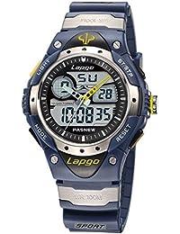 Reloj electrónico al aire libre / tabla militar / 100 metros de reloj impermeable / reloj de buceo multifunción , deep blue