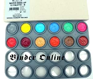 Grimas Water Make-up, 12-Farben-Palette, Farbe B