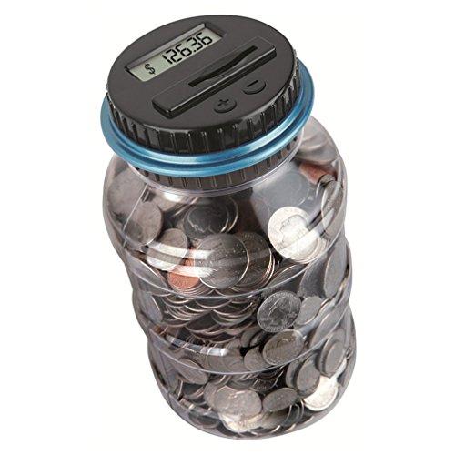 sookg Neueste LCD-Display Elektronische Digital Counting Coin Bank Geld sparen Box Jar Zähler (Dollar Münze Werte)