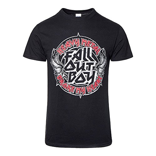 Fall Out Boy Heavy Metal T Shirt (Schwarz) Schwarz
