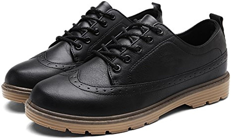 Gli uomini sono casualmente le scarpe, scarpe da uomo libero inglese bullock, retro gioventù leisure scarpe,nero,43 | Primi Clienti  | Scolaro/Ragazze Scarpa