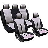 WOLTU AS7288cm Schonbezüge Auto Sitzbezüge Sitzschoner Sitzbezug Auflage für PKW ohne Seitenairbag, Kunstleder, schwarz-Creme