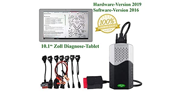 SPIRO-AMT KFZ Profi DIAGNOSEGER/ÄT KOMPLET-Set 14 Diagnose-Laptop Adapterkabelset PKW /& LKW bis BJ 2016
