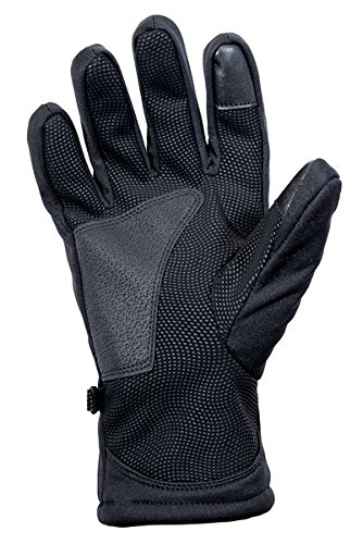 Premium Softshell Gloves with Touchscreen Sensitive Forefinger. Lightweight Warm, Windproof, Water Resistant, Tough Palm for Poles & Steering Wheel. Improved Custom Fit for Men & Women by by Mountain Shack