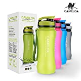 CAMELOA 21oz Wide Mouth Tritan BPA-Free Best Sports Water Bottle - For Running, Cycling, Gym, Yoga, Outdoors and Camping, 600ml / Green