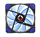 #8: CHIPTRONEX FX100B 15 Blue LED (120mm) Computer Cabinet/Case Fan 3Pin & 4pin Connector