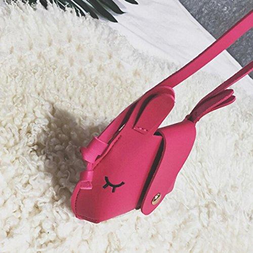 BZLine® Kinder Cute Cartoon Fashion Mini Schultertasche Handtaschen Hot Pink 1