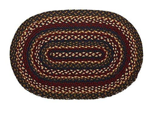 IHF Home Décor Blueberry Geflochten Oval Bereich Teppich Accent Teppiche 100% Jute Material Modern 36