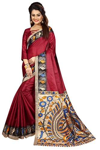 Kanchan Women's Kalamkari Silk Saree Ideal For All Occasions