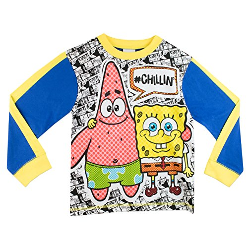Image of SpongeBob SquarePants Boys SpongeBob and Patrick Pyjamas Age 3 to 4 Years