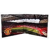 Manchester United FC - Geldbörse mit geprägtem Vereinswappen - Offizielles Merchandise - Geschenk für Fußballfans