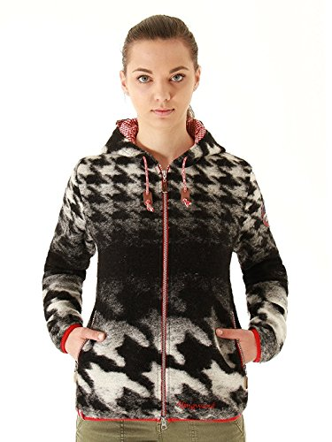 Damen Walkjacke / Strickjacke mit Kapuze 'Walkersdorf 5'