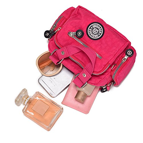 MeCooler Damen Taschen Umhängetasche Designer Sporttasche Kuriertasche Mädchen Handtasche Messenger Bag Schultertasche für Strandtasche Wasserfeste Reisetasche Blau