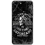 Grunge Cult Fun Tête de mort Art Hipster Musique téléphone Housse/Coque rigide pour Apple téléphone portable, plastique, No Time Leave No Word Unsaid, Apple iPhone 7 Plus