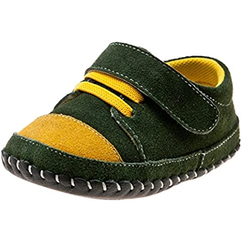 Little Blue Lamb–Zapatos para bebé unidad lernschuhe Zapatillas Verde ante