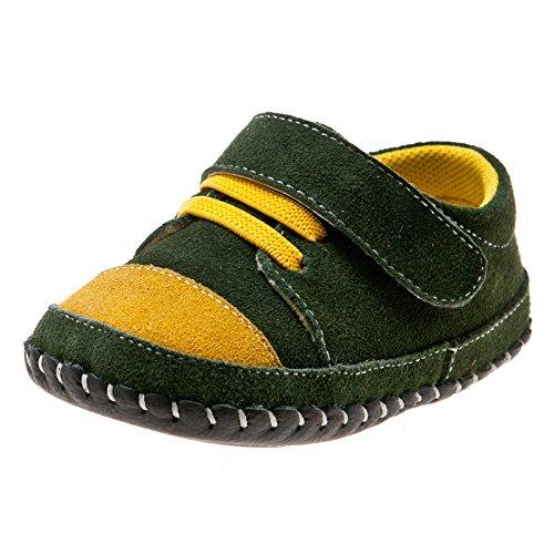Little Blue Lamb Chaussures souples bébé vert Baskets Daim - - vert, 6-12 mesi Vert