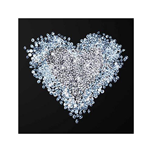 PPS. Imaging Druck auf Glas Wand Kunst-Diamant Herz-eckig 1: 1, Druck auf Glas, Glas Druck, Glas Bild, Wandbild, Glas Bild, Wandbild, Glas Wandbild, Glas-, Wandbild, Dimension HxB: 30cm x 30cm - Gespiegelte Möbel Aus Glas