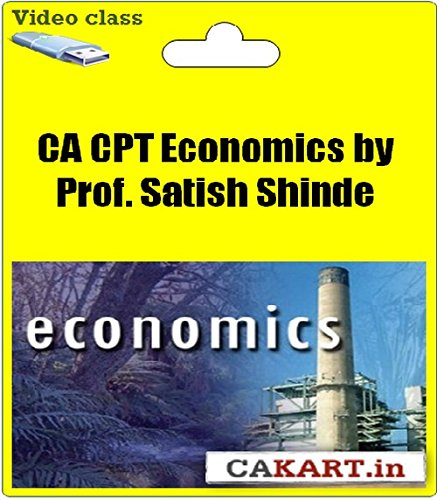 CAKART CA CPT Economics by Prof. Satish Shinde (DVD)
