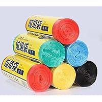 Sacchetto di immondizia (5 galloni) monouso durevole Trash Bag Draw String Forte Sacco per immondizia, 150 Borse, 0.53 mil