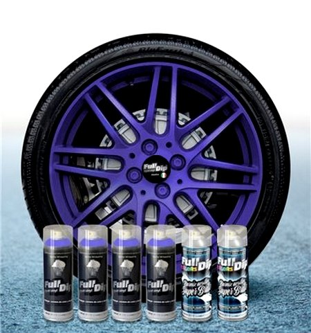 6Stück Haarspray Full Dip Schallplatten Flüssigkeiten violett Metallises glänzend pelable 400ml