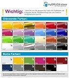 Fliesenaufkleber 10 x 10 cm Farben Fliesen Aufkleber Kacheldekor Bad Küche 1K016, Farbe:Azurblau glanz;Fliesen 10x10cm:24 Stück