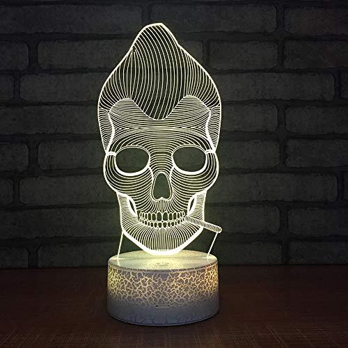 Zcmzcm 3D Nachtlichter Neue Nachtlicht-Kreative Sieben Farben-Maske Halloweens - Neue Halloween Masken
