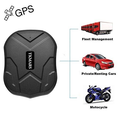 TKMARS Starker Magnet GPS-Tracker, 3 Monate Lang Standby GPS, Fahrzeug Tracker Echtzeit Monitoring System, wasserdicht GPS Locator, Anti Verloren GPS Ortungsgerät mit Kostenlos APP für Smartphone -
