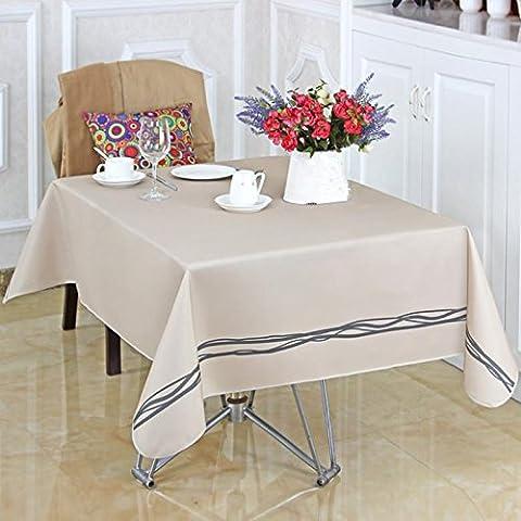 Nappe Tissu en polyester Couleur solide Rectangulaire Accueil Pique-nique Anti-poussière Imperméable Doux Table Premium , 150*130cm , 1