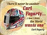 RKO Carl Fogarty Helm, Motorrad, Rennrad Metall/Stahl Wandschild - 15 x 20 cm