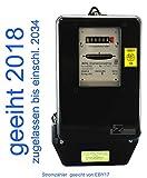 Drehstromzähler 10(40)A neu geeicht für Verrechnungszwecke zugelassen (max. 27,6 kW) von Prüfstelle EB17
