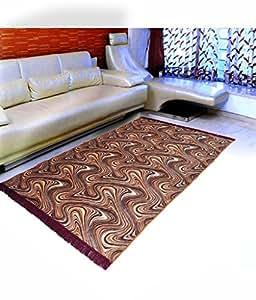 "Home Elite Floral Microfibre Anti-Allergic Carpet - 55""x80"", Multicolour"