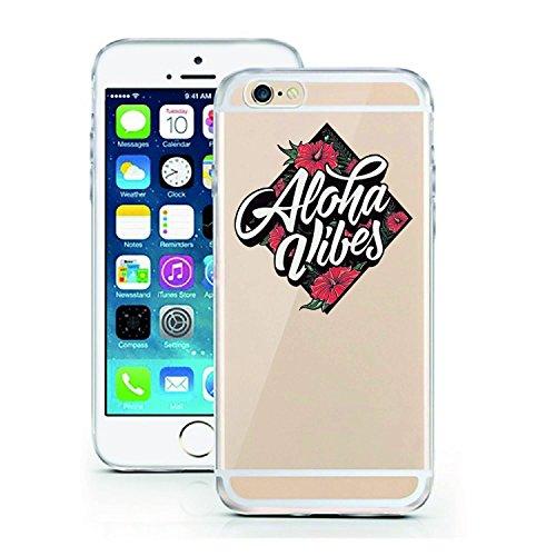 Blitz® ADORE Schutz Hülle Transparent TPU Cartoon Comic Case iPhone Flamingo iPhone 7 Aloha Vibes