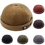 YAMEE Docker-Cap Docker Mütze Seemannsmütze Hafenmütze Bikercap Basecap ganzjährig Tragbar Hat (Khaki)
