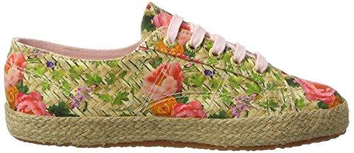 Superga Damen 2750 Fabricfanplropew Sneakers Mehrfarbig (weaving natural)