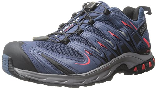 Salomon L37920800, Zapatillas de Trail Running para Hombre, Azul (Slateblue /     Detroit /     Radiant Red), 43 1/3 EU