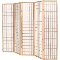 Festnight- Biombo Plegable con 5 Paneles Estilo japonés Separador 200x170 cm - Muebles de Dormitorio precios