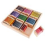 Gazechimp Montessori Sensoriel Caja de Colores de Madera Juguete de Despertar de Color Sensación de Bebé Juego de Educación