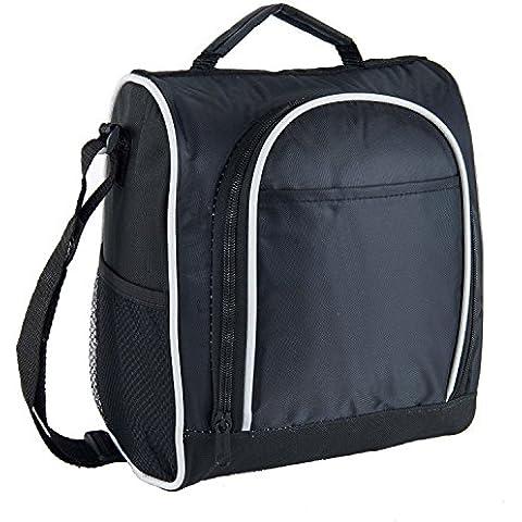 Lunch Bag Style Spalla Tote Borsa per il pranzo Borsa Porta Pranzo Nero - Auto Lunch Box