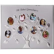 Dillards Portafoto Aluminio Arbol Familiar Genealogico, 25 cms X 30 cms