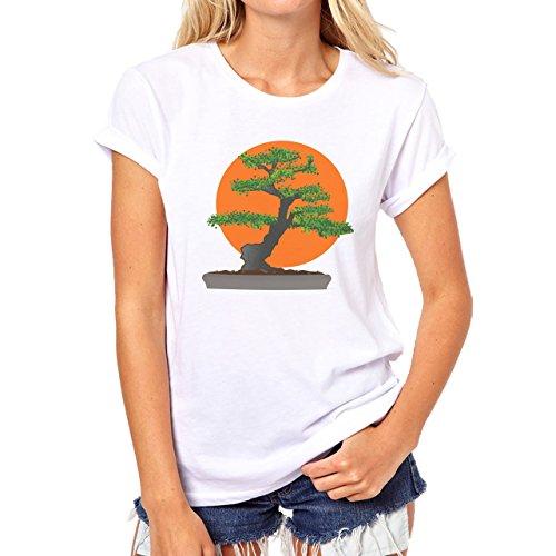 Karate Kid Bonsai Damen T-Shirt Weiß
