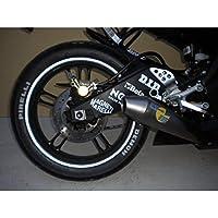 StickersLab - Strisce Moto adesive cerchi rifrangenti riflettenti marca 3M™ stripe for wheel 7mm x 6MT (Bianco)