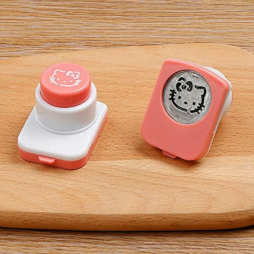 SHENGNONG DIY Sushi Tool - Nori Cutter Prägevorrichtung Smile Face Rice, Bento Box Dekoration - Cutter-taste Box