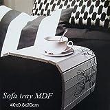 Sofatablett MDF Flexablage Tablett Ablage Armlehnen Sofa Couch Ablage Blumen
